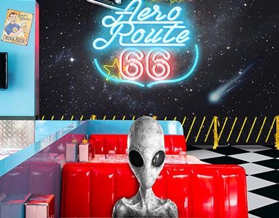 Affiche Aeroroute 66