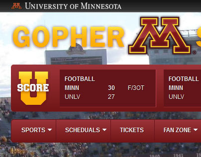 Gopher Sports - Redesign