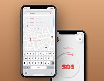 Panic App Neumorphic Design