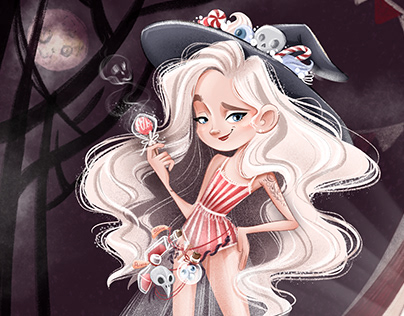 Circus Halloween witch