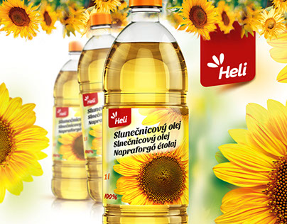 Sunflower oil packaging label
