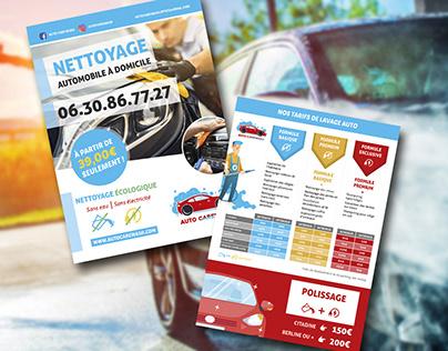 Auto Car Wash Flyer