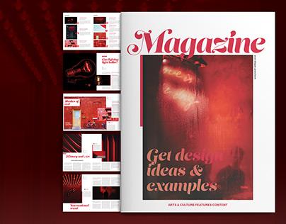 Red Magazine Layout