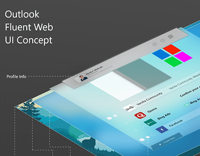 Outlook Redesign Using Windows Fluent Design Concept