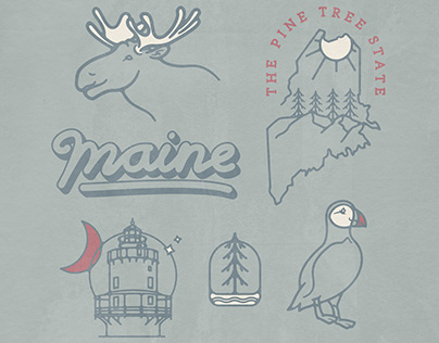 Maine Illustrations