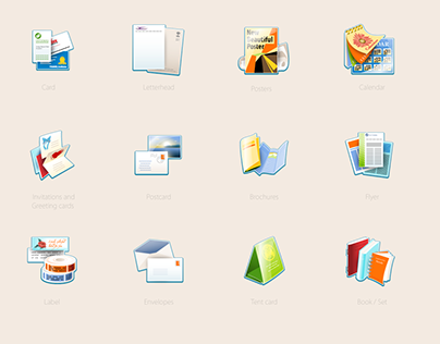 Remote Printing System Icons