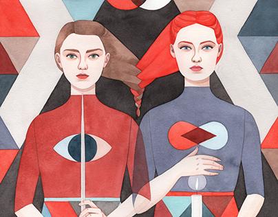 Sisters: Arya & Sansa