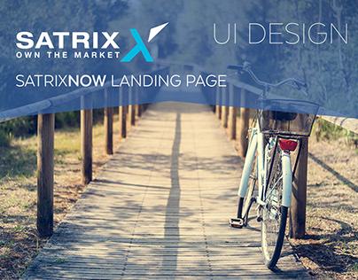 Satrix UI: Landing Page