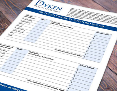 Dyken Wealth Strategies Worksheet Design