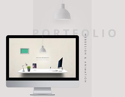 Portfolio web design & animation