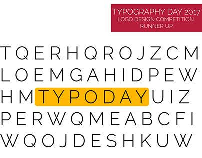 Runner Up | TYPODAY 2017 Logo design