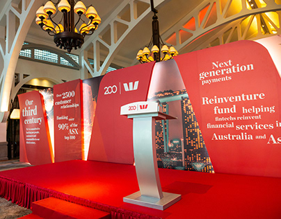 Westpac Private Cocktail Reception Backdrop Design