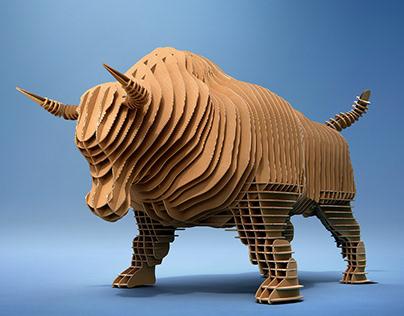 Smurfit Kappa - Full CGI cardboard Bull