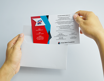 PRIME BANK FOUNDATION INVITATION CARD DESIGN