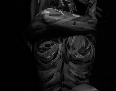 Bodypaint impresionista