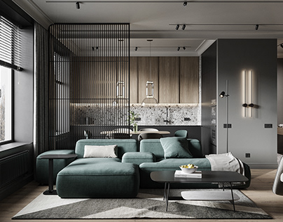 Modern interior in Moscow 42m2