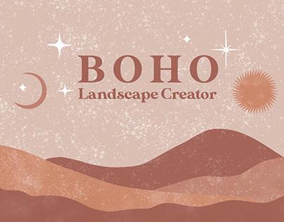 Boho Landscape Creator Photoshop