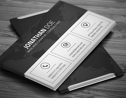 Clean Corporate Business Card (Freebie)