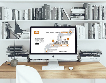 Courier company home page layout