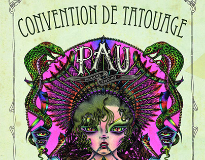 """""""Very Sud Ouest"""" Tattoo Convention Poster"""