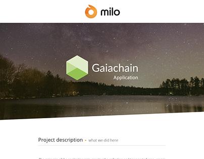 Gaiachain App - by Milo