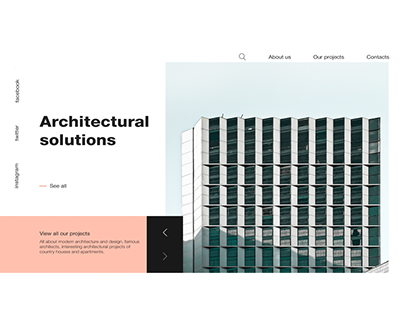Design home page architectural solutions