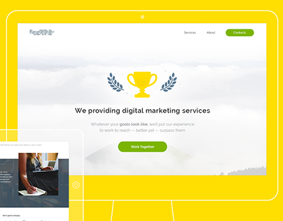 Landing page - Digital marketing services