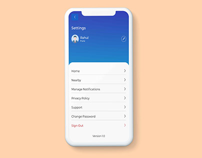 User Account Setting Page UiUx