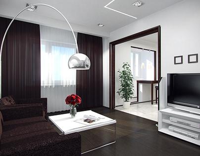 Compact apartment | design | 3d mocelling