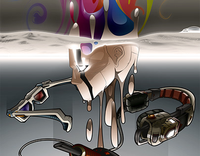 Liquid Mind - vector artwork by Wam2021