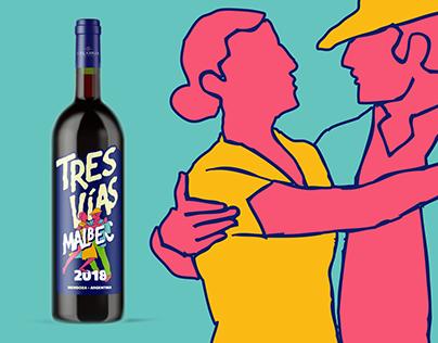 Tres Vías de Calabria Wines / Packaging Label