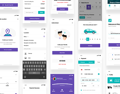 Ticket Booking App UI KIT
