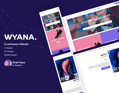 WYANA E-commerce Website + Mobile Version