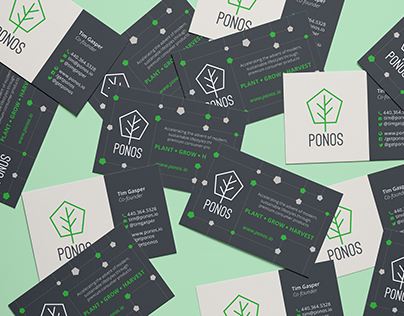 Ponos logo & business cards