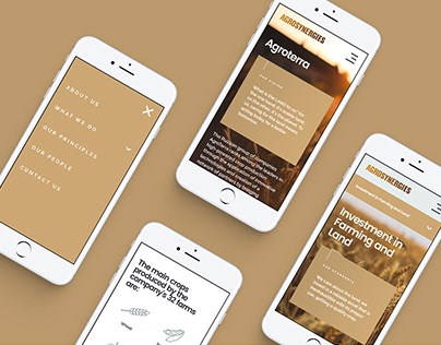Agro corporation website design