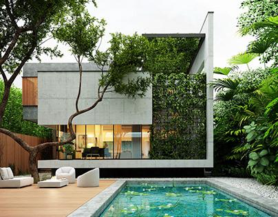 Noor villa designed by Reza Hedayatpoor