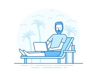 Landing Page и полиграфия для курса Design GYM 4.0