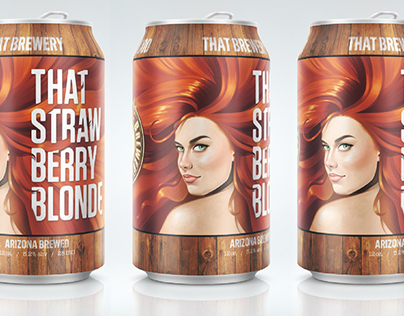 Strawberry Blonde Ale - Can Illustration