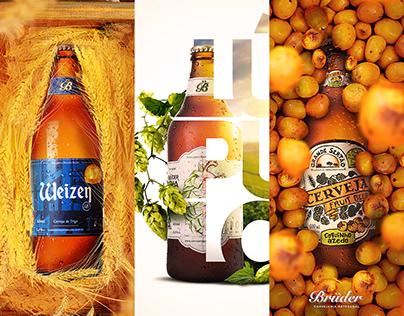 Cervejaria Bruder - Manipulação e criação de cartazes