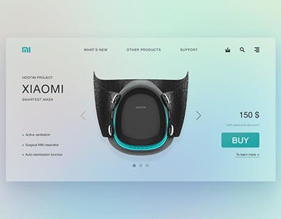 xiaomi mask — ux/ui website design concept
