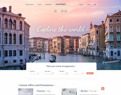 Imaginary Travel Agency - Home Page (Concept Design)