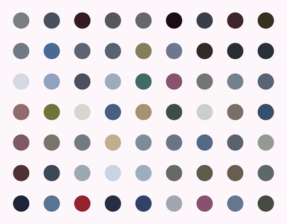 Color palette of Reykjavík
