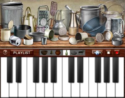 """I-pad Application : """"Junk Piano"""""""