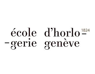 Logo pour l'école d'horlogerie de Genève