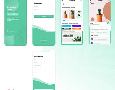 UI Mobile App - Plant