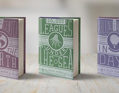 Jules Vern Book Cover Series