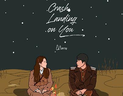 crash landing on you illustration