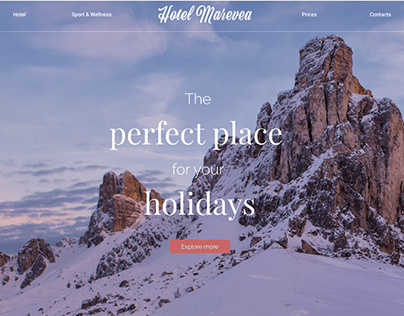 Hotel Marevea - Website Prototype