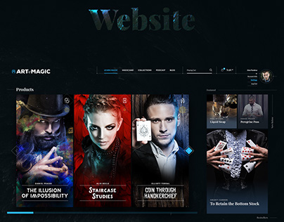 ArtofMagic New Brand and Website Concept