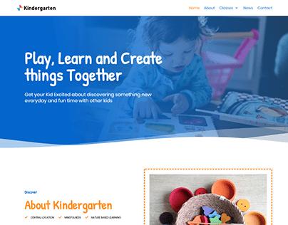 Kindergarten, School, Study WordPress website design